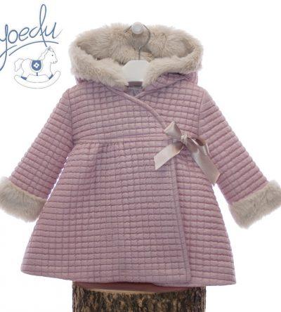 Abrigo-rosa-empolvado-Anabel-Moda-Infantil