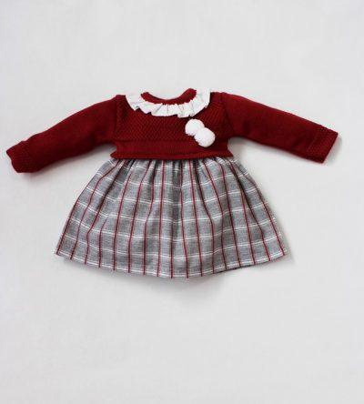 Vestido-bebe-cuadros-lana-Anabel-Moda-Infantil