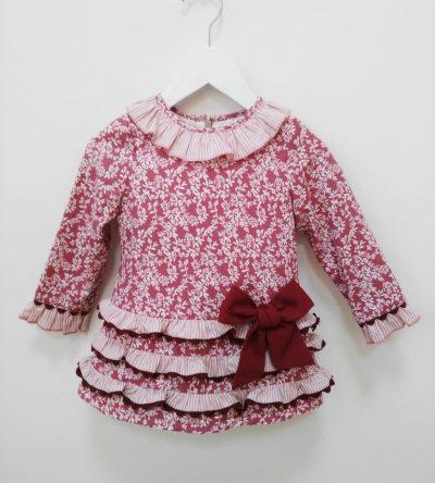 vestido-niña-flores-granate