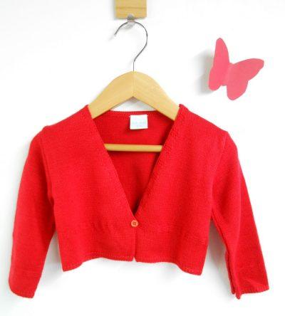 chaqueta-punto-roja-botón