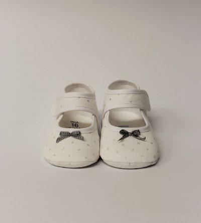 Zapatos-bebé-niña-topitos-plata