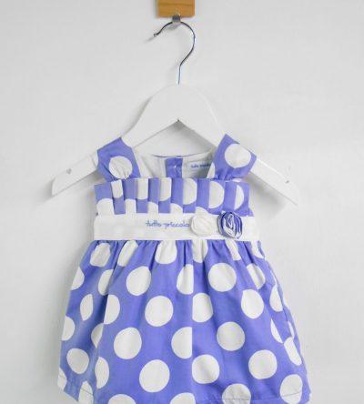 Vestido-bebé-lunares-azul