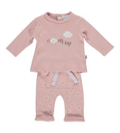Conjunto-bebé-algodón-fino-nubes-rosa
