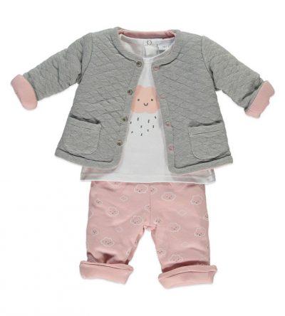 Conjunto-bebé-tres-piezas-nubes-rosa