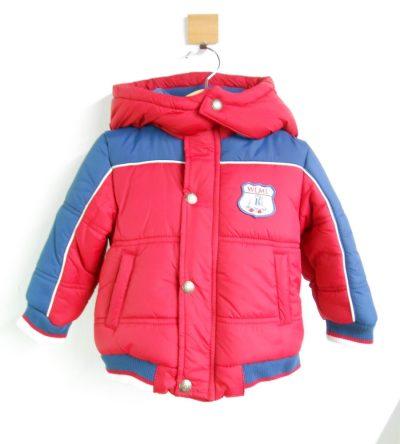 Abrigo-acolchado-bebé-niño-rojo