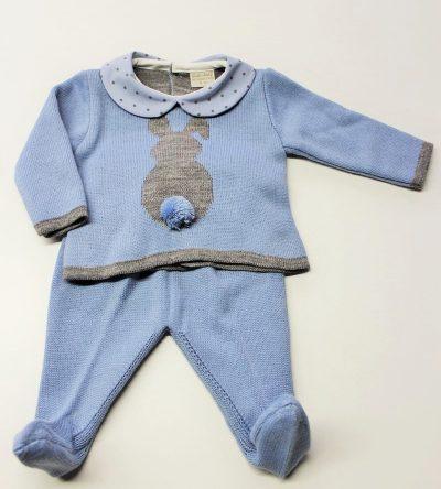 Conjunto-polaina-lana-azul-empolvado-conejito-gris