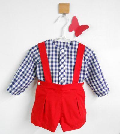 Conjunto-bebé-camisa-cuadros-marino