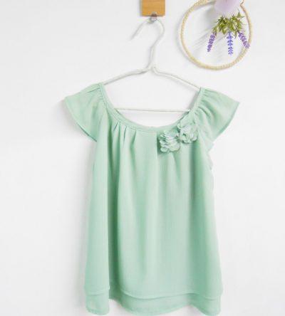Blusa-niña-gasa-mint-Anabel-Moda-Infantil