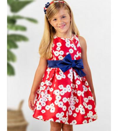 Vestido-niña-ceremonia-flores rojas