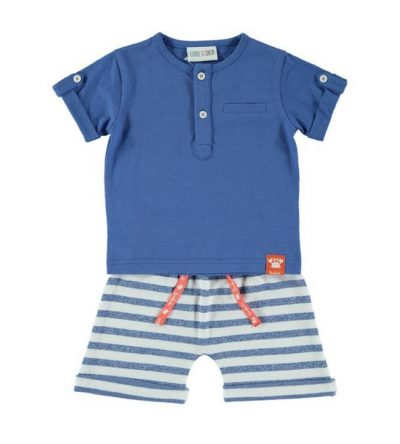 Conjunto-algodón-rayas-azulón