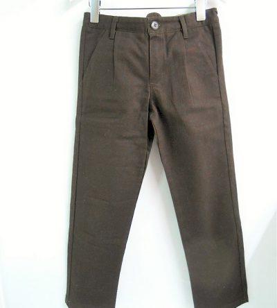 Pantalón-niño-recto-marrón