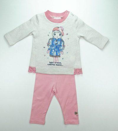 Conjunto-bebé-niña-leggin-rosa