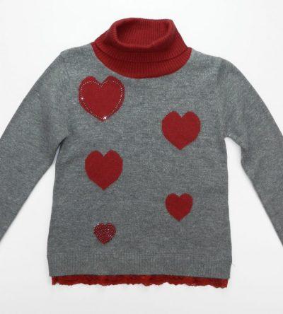 Jersy-cuello-alto-niña-corazones-Bimbalina