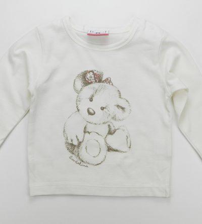 Camiseta-bebé-osito-marfil
