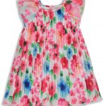 Vestido plisado de flores Anabel moda infantil