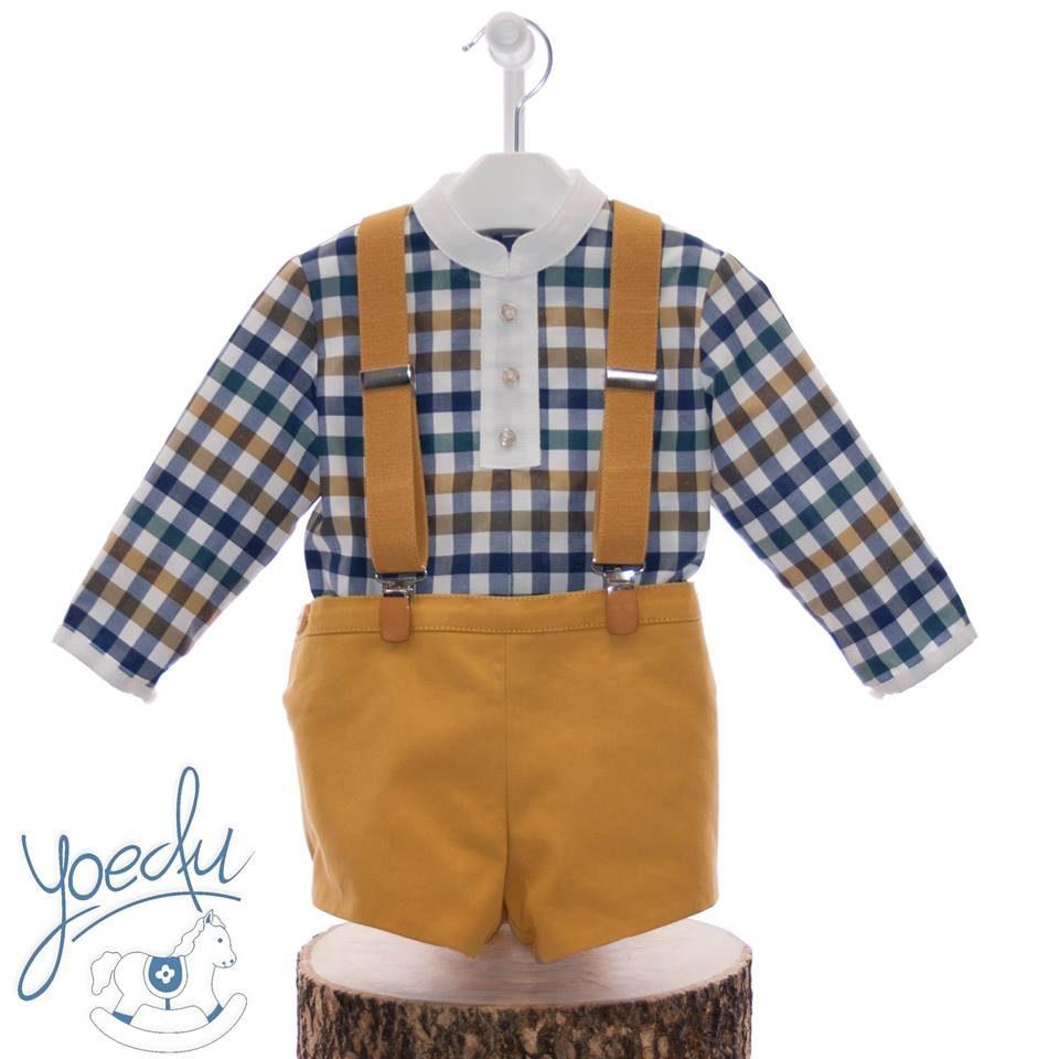 f8325bc4e Conjunto bebé niño camisa cuadros de Yoedu - Anabel Moda Infantil