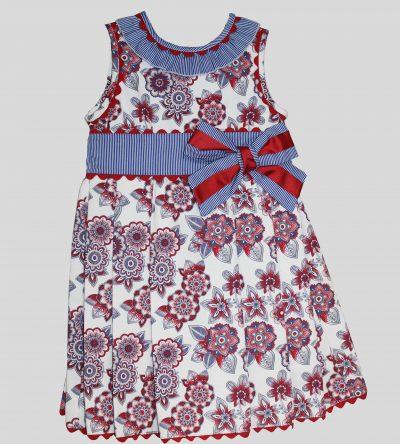 Vestido flores y rayas de Basmarti en Anabel moda infantil